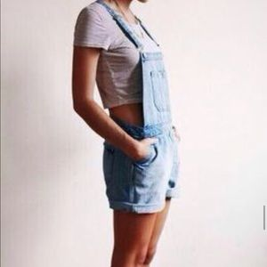 FRAME L.A.  Overall shorts.